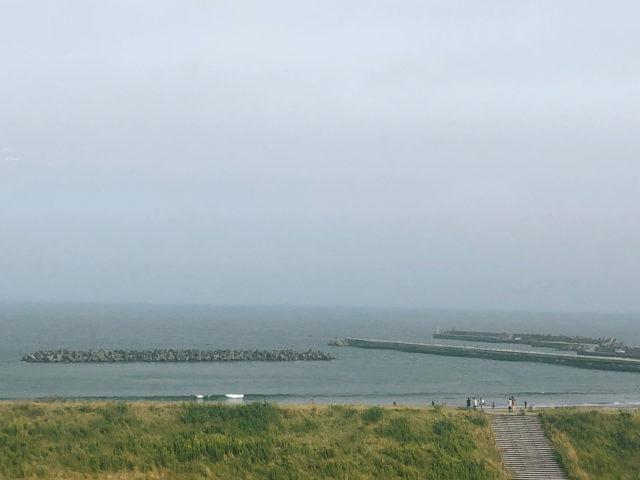 わたり温泉 鳥の海 温泉ロビーからの眺望